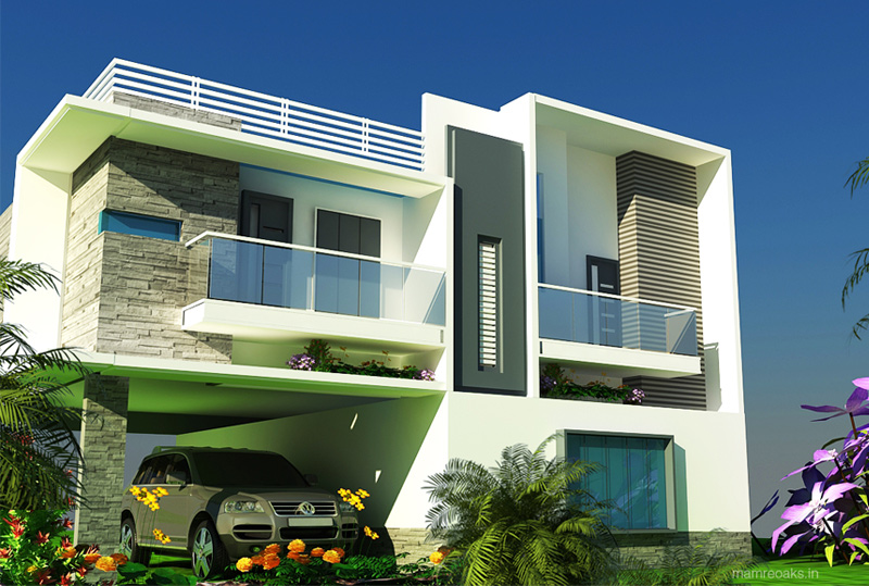 Minimalistic house design 3d elevations small house for Home designs bangalore