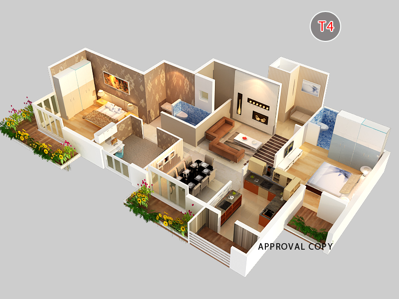 3d isometric plan rendering in bangalore
