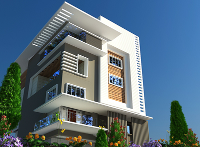 Home Elevations Bangalore Mamre Oaks 3d Architectural