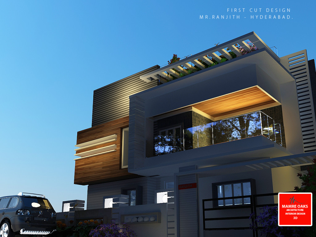 Karnataka House Front Elevation : Mamre oaks d architectural design and elevation services