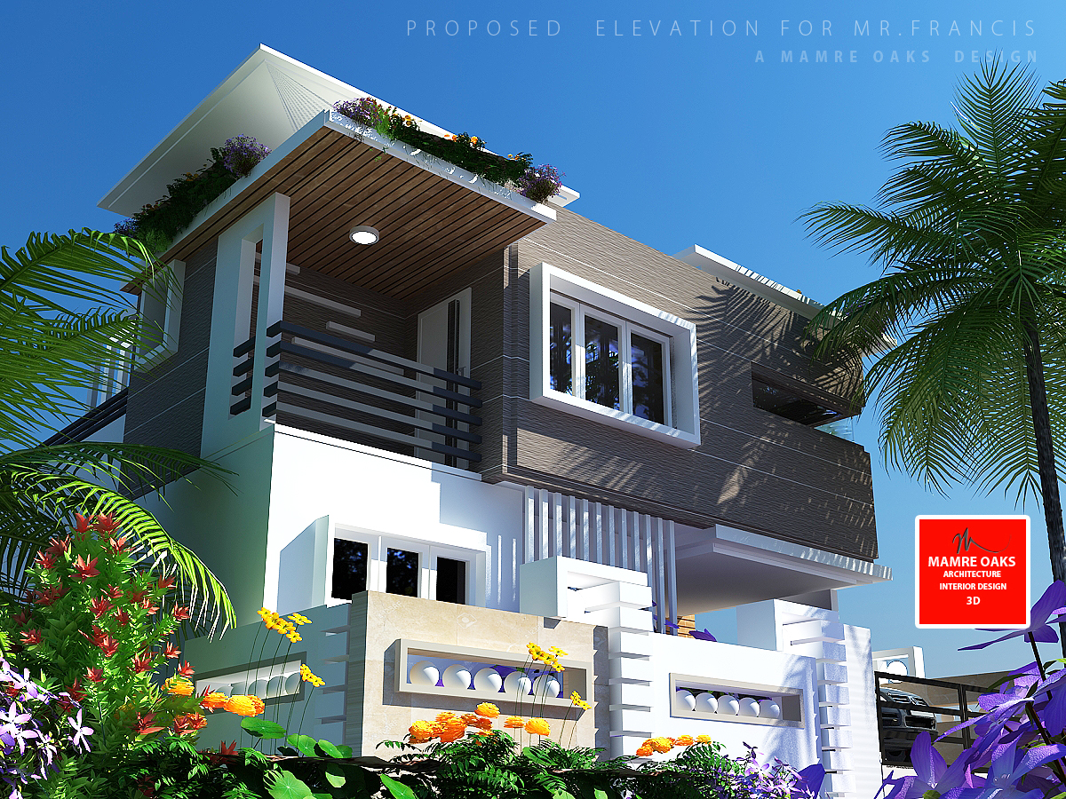 Better elevations mamre oaks 3d architectural design and for Ground floor 3d elevation