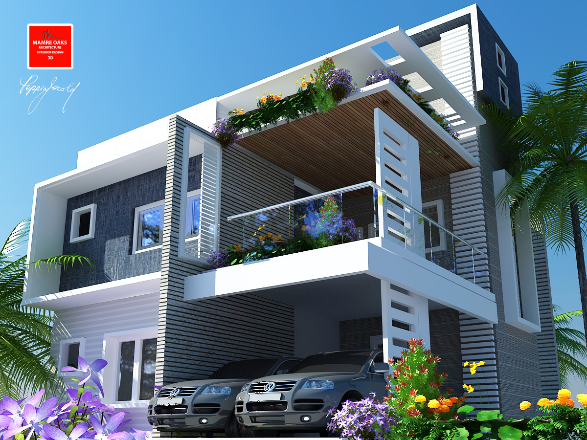 3d home front elevation joy studio design gallery best for Ground floor 3d elevation