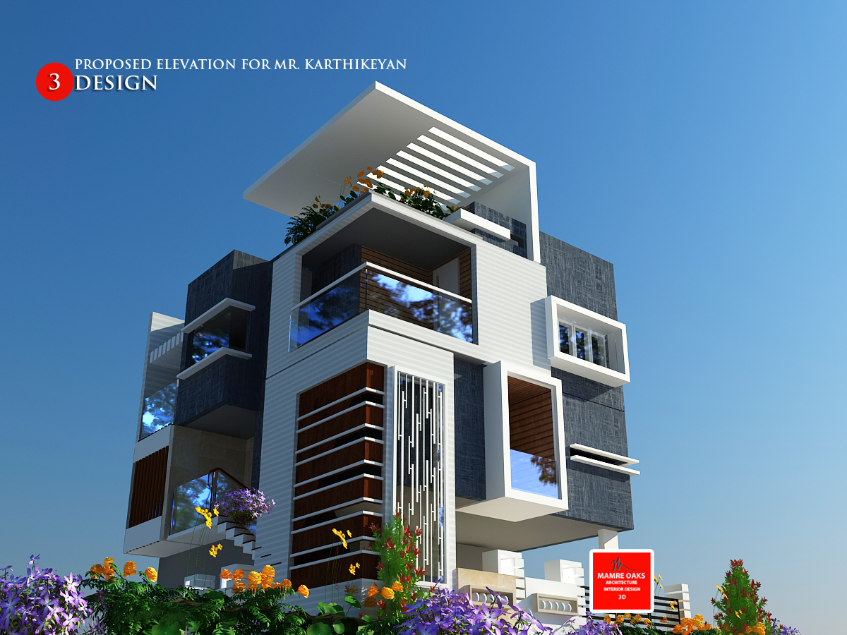 Front Elevation Design For Small Houses : Contemporary elevations executed in bangalore mamre oaks